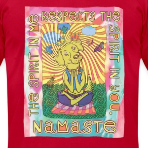 Namaste Yoga Dog - Men's T-Shirt by American Apparel