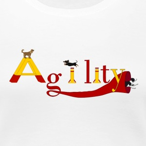agility three dogs Women's T-Shirts - Women's Premium T-Shirt