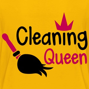 Cleaning QUEEN with a crown and sweeping broom Kids' Shirts - Kids' Premium T-Shirt