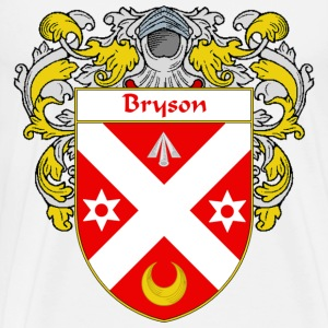 Bryson Coat of Arms/Family Crest - Men's Premium T-Shirt