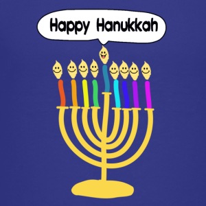 Happy Hanukkah cute cartoon smiley menorah Kids' Shirts - Kids' Premium T-Shirt