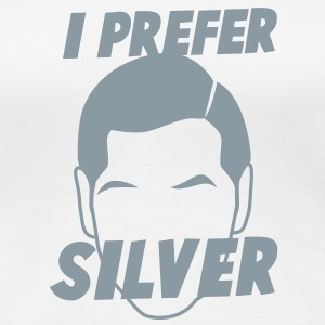 I PREFER SILVER male man face grey hair  Women's T-Shirts - Women's Premium T-Shirt