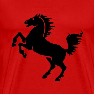 Horse Stallion Black - Men's Premium T-Shirt