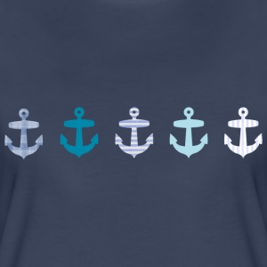 Nautical Blue Anchor Design Women's T-Shirts - Women's Premium T-Shirt