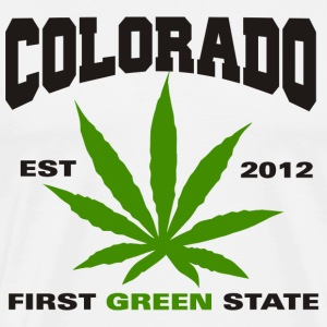 Marijuana Colorado First Green State T-Shirt - Men's Premium T-Shirt