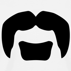 Moustache and beard - Men's Premium T-Shirt