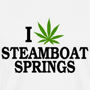 I Love Marijuana Steamboat Springs Colorado T-Shir - Men's Premium T-Shirt