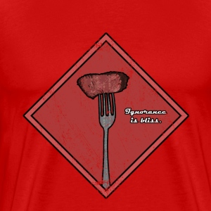 Ignorance is Bliss - Matrix | Robot Plunger T-Shir - Men's Premium T-Shirt