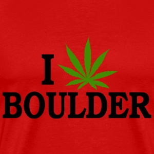 I Love Marijuana Boulder Colorado T-Shirt - Men's Premium T-Shirt