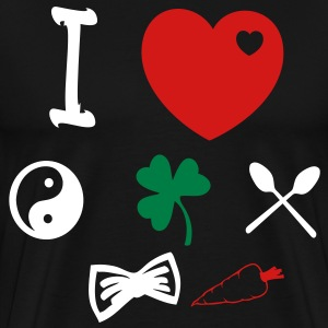 i love harry zayn louis liam niall T-Shirts - Men's Premium T-Shirt