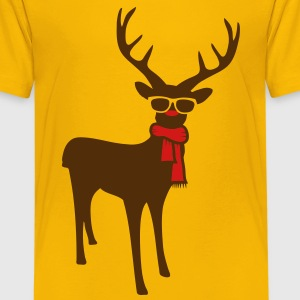 A reindeer with scarf and glasses Kids' Shirts - Kids' Premium T-Shirt