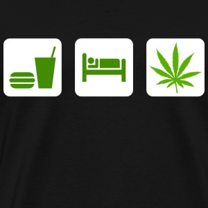 Eat Sleep Smoke Marijuana T-Shirt - Men's Premium T-Shirt
