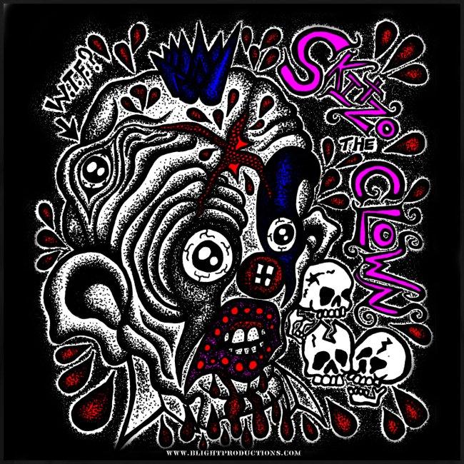 Skitzo The Clown (Mens 3X & 4X T-shirt)