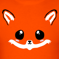 Design ~ kawaii fox tee with back tail print!