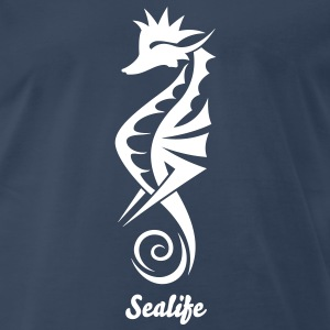 Seahorse Tribal Tattoo 2 T-Shirts - Men's Premium T-Shirt