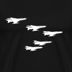 Soviet Migs Reactive Airplane Jet Russian Aviation - Men's Premium T-Shirt