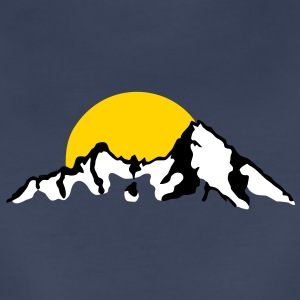 Mountain with Sunset / sunrise Women's T-Shirts - Women's Premium T-Shirt
