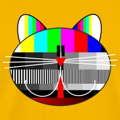 tv - television - test card cat T-Shirts