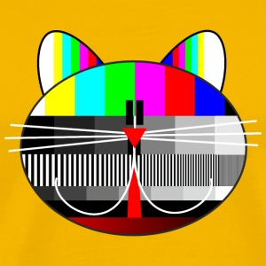 tv - television - test card cat T-Shirts - Men's Premium T-Shirt