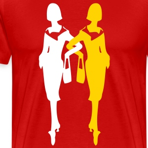 sexy fashionistas classic ladies shopping bag  T-Shirts - Men's Premium T-Shirt