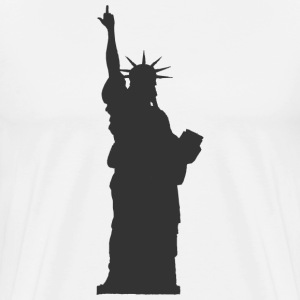 Statue of Liberty Middle Finger T-shirt - Men's Premium T-Shirt