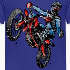Motocross Dirt Bike Stunt Rider Kids' Shirts