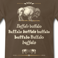Design ~ 3xl: Buffalo Buffalo T-shirt (brown)