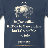 Design ~ 3xl/4xl: Buffalo Buffalo T-shirt (navy)