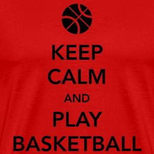 Keep Calm and Play Basketball T-Shirt - Men's Premium T-Shirt