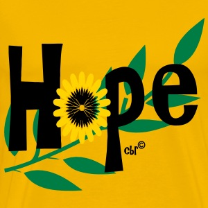hope_with_sunflower and leafs T-Shirts - Men's Premium T-Shirt