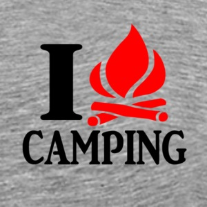 I heart (fire) camping Shirt - Men's Premium T-Shirt