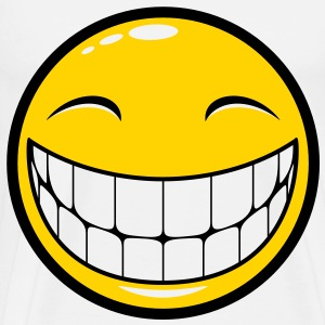 Smiley Face Grin (2c)++2012 T-Shirts - Men's Premium T-Shirt