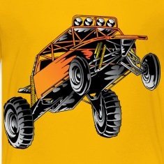 Orange Race Desert Buggy Kids' Shirts