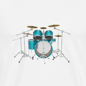 Aqua Drum Kit: T-Shirt - Men's Premium T-Shirt