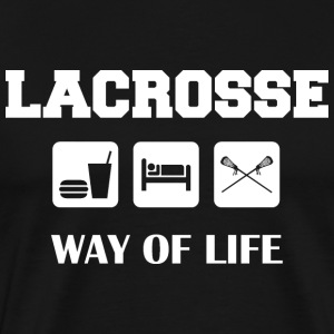 Eat Sleep Lacrosse T-Shirt - Men's Premium T-Shirt