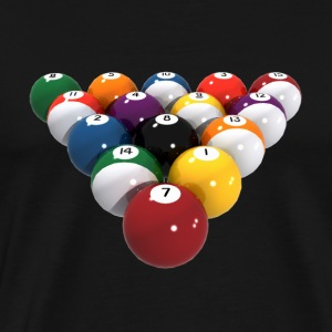 Billiards / Pool Balls: T-Shirt - Men's Premium T-Shirt