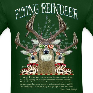 Flying Reindeer - Men's T-Shirt