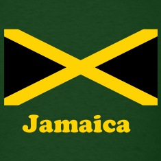 Jamaica flag in two colours T-Shirts