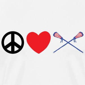Peace Love Lacrosse T-Shirts - Men's Premium T-Shirt