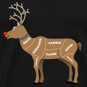 Reindeer Meat For Christmas T-Shirts - Men's Premium T-Shirt