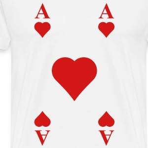 ace of hearts T-Shirts - Men's Premium T-Shirt