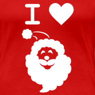 Design ~ I LOVE SANTA CLAUS - Women's T-Shirt