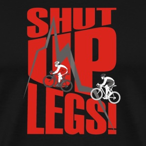 shut up legs Jen Voigt Tour De France T-Shirts - Men's Premium T-Shirt