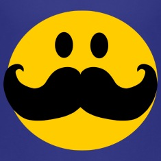 Funny Mustache Smiley Kids' Shirts