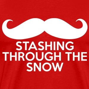 Stashing Through the Snow T-Shirts - Men's Premium T-Shirt