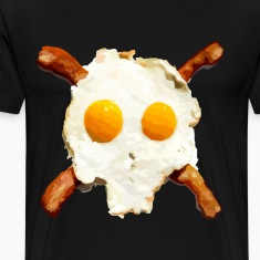 Bacon Eggs Skull T-Shirts