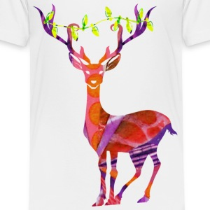 DEER with XMAS LIGHTS Baby & Toddler Shirts - Toddler Premium T-Shirt