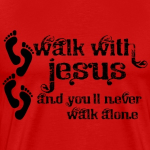Walk With Jesus - Men's Premium T-Shirt