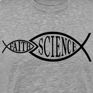 Science Trumps Faith Fish - Men's Premium T-Shirt