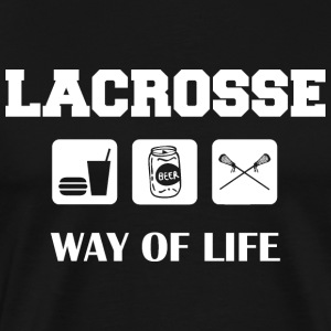 Eat Drink Beer Play Lacrosse T-Shirt - Men's Premium T-Shirt